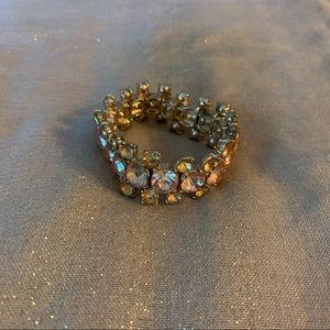 Amber glass bracelet